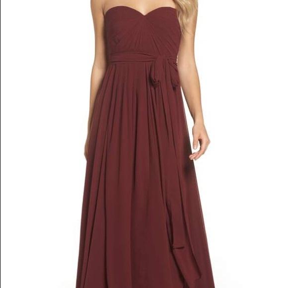 d222a52bfd7f Jenny Yoo Dresses   Mira Convertible Strapless Chiffon Gown   Poshmark